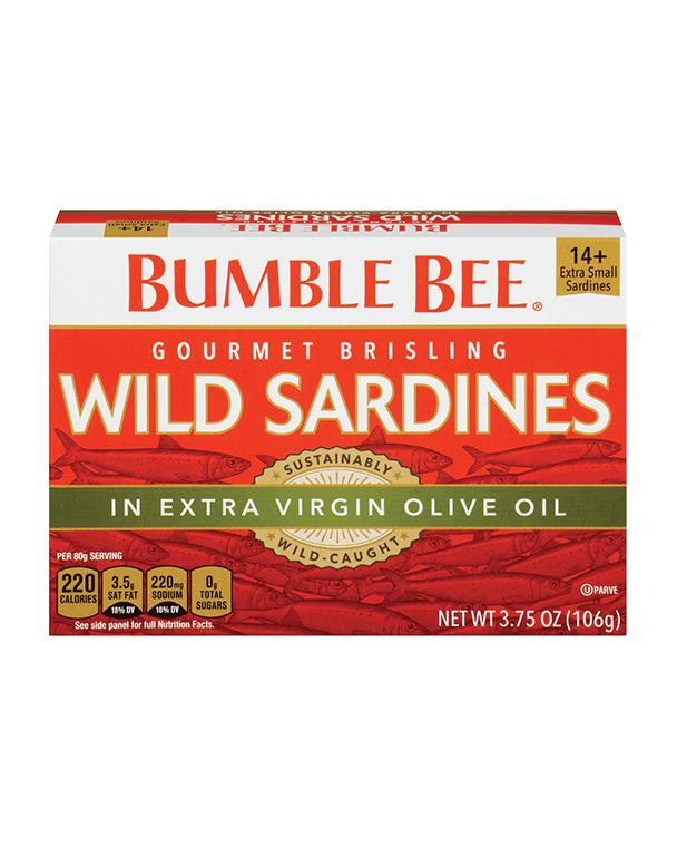 BUMBLE BEE® Gourmet Brisling Wild Sardines in Extra Virgin Olive Oil