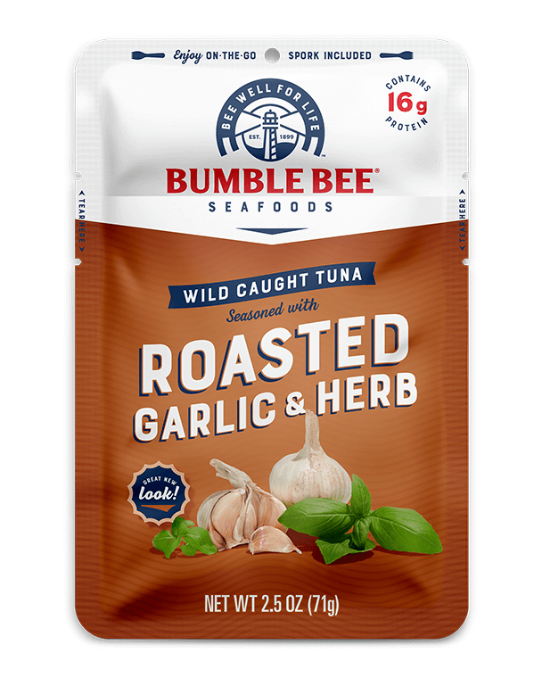 BUMBLE BEE® Roasted Garlic & Herb Seasoned Tuna Pouch With Spork