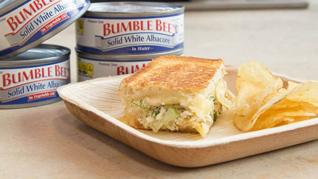 Grilled Cheese with Albacore Tuna by Sam the Cooking Guy®