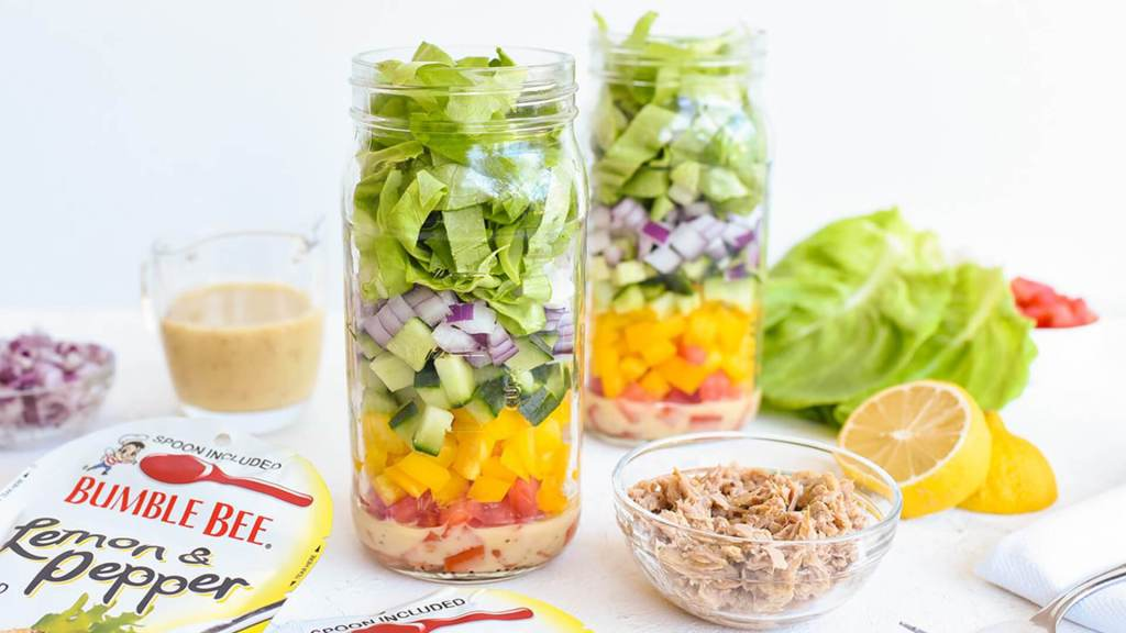 Meal Prep Mason Jar Lemon-Pepper Tuna Salad