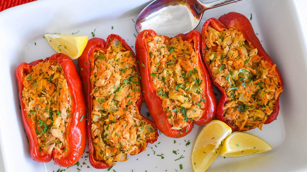 Tuna Stuffed Bell Peppers