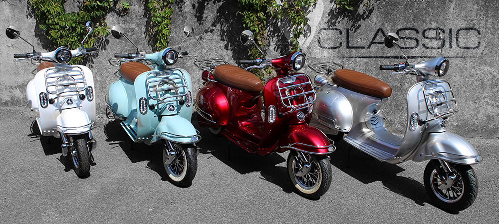 Classic Electric Moped colour range header