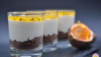 Mini Maracuja Cheesecakes im Glas