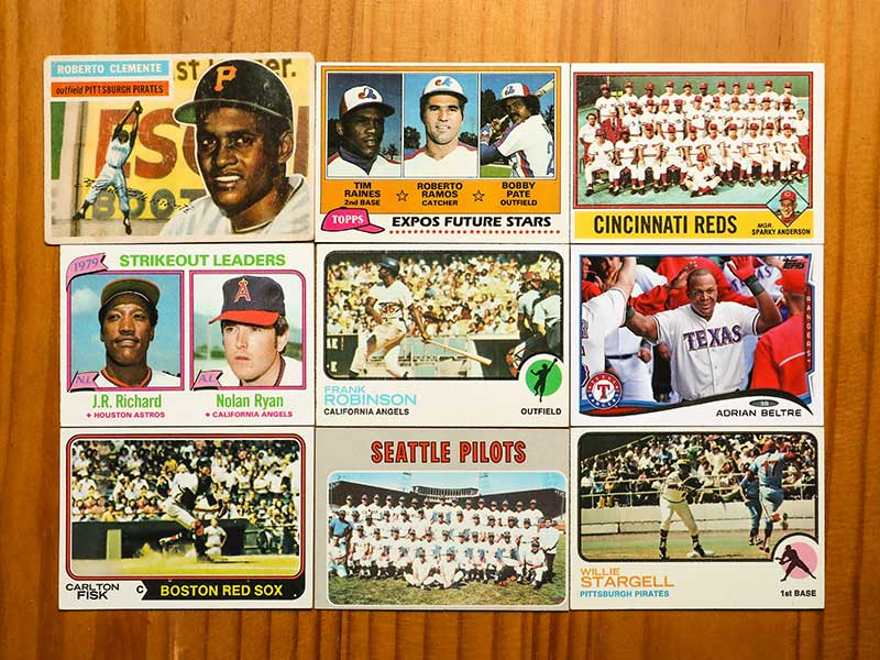 old baseball cards: no junk to remove here
