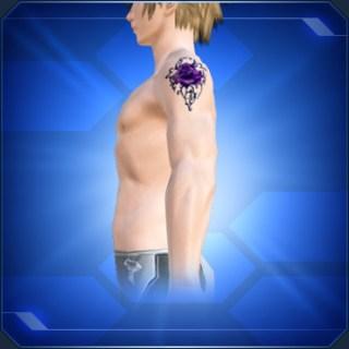 パープルローズタトゥーM Purple Rose Tattoo M