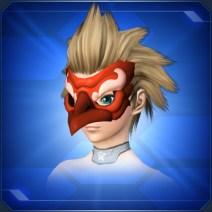 赤カラステングの面BRed Crow Tengu Mask B