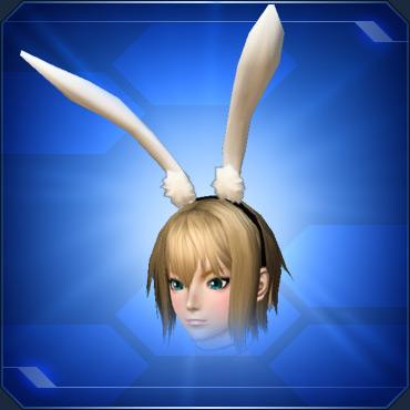 ホワイト立ちうさ耳バンドWhite Standing Bunny Ear Band