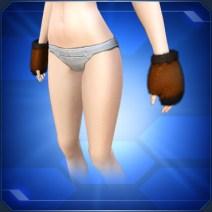 ブラウンファーグローブ Brown Fur Gloves