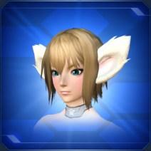 ホワイトふんわりビッグ耳 Big White Fluffy Ears