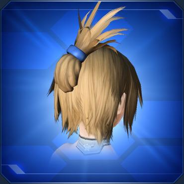 ヘアバレッタ 青 Blue Hair Barrette