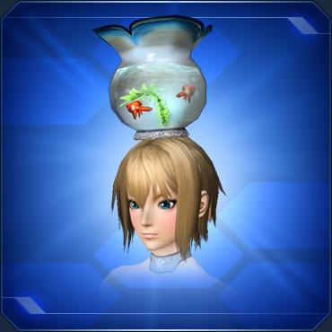 頭乗せ金魚鉢 Head Fishbowl