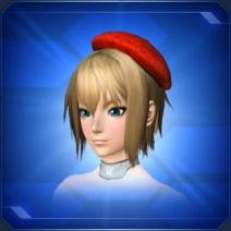 シンプルベレー帽 赤 Red Simple Beret
