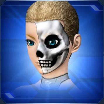 ハーフドクロペイント Half Skull Paint