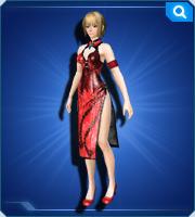 China Dress Crimson