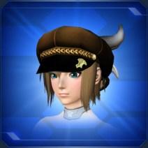 デビルハット 茶Brown Devil Hat