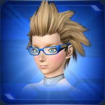 縁太スクエアメガネ 青 Blue Thick Square Glasses