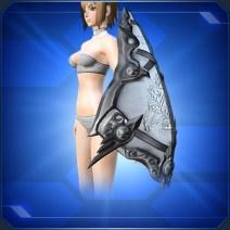 クエントの飾り盾 黒 Cuent Decorative Shield B