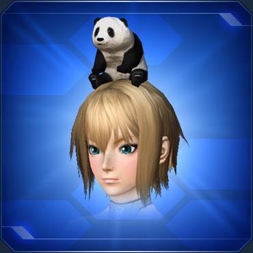 頭乗りパンダ Perched Panda