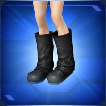 レザーブーツ 黒 Black Leather Boots