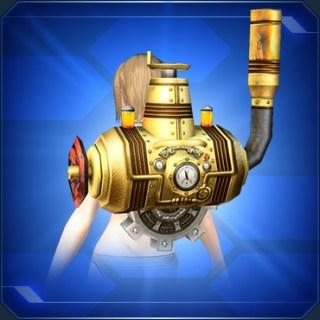 背負い蒸気機関 金 Gold Rear Steam Engine