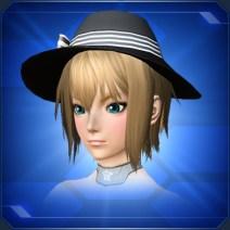 ツバ広リボンハットB Wide-Brimmed Ribbon Hat B