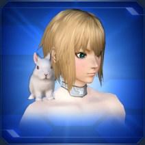 肩乗りうさぎ 白Shoulder Riding Rabbit White