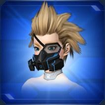 ハーフアームドマスク 青Half Armed Mask Blue