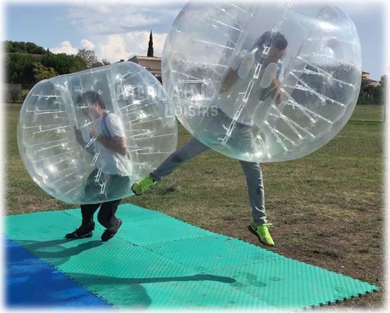 Combat bubble bumper ball