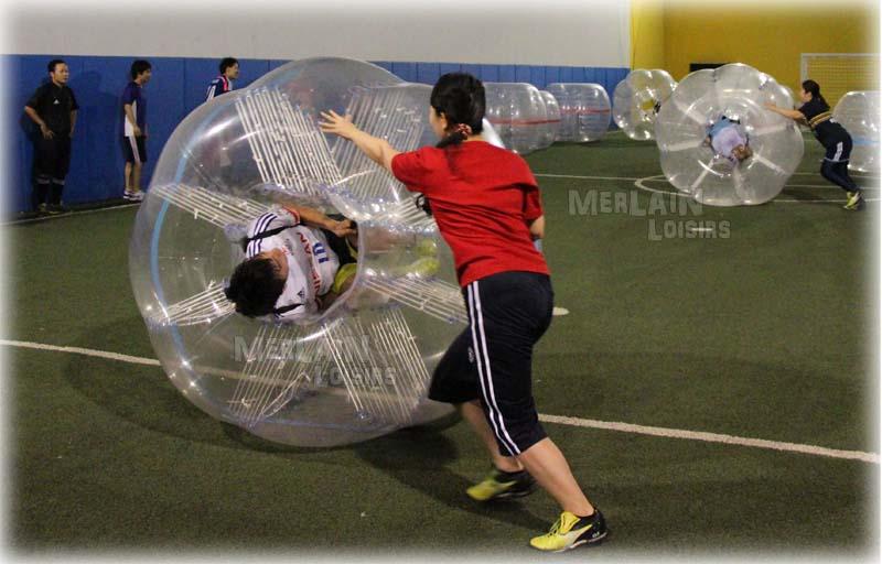 activité bumper ball relais bubble relais