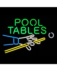 Pool Table Hand & Cue Neon Sign - Neon Signs - Gameroom
