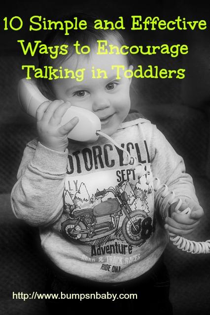 encourage talking in toddlers