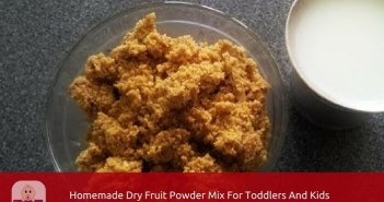 home made dry fruit powder mix
