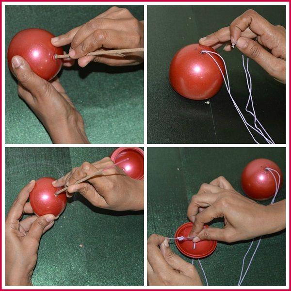 Christmas bauble using gems ball DIY