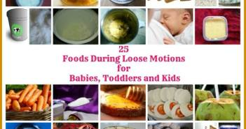 foods during loose motions for babies