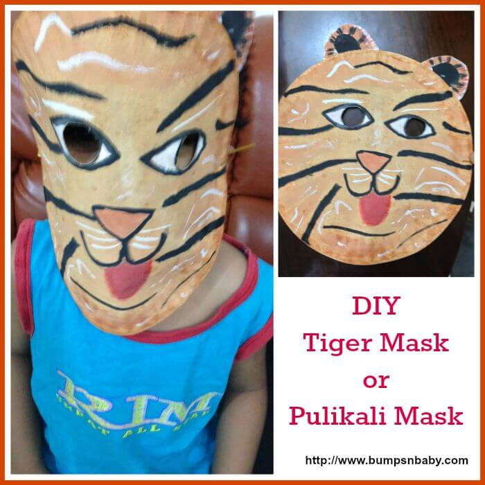 DIY tiger mask