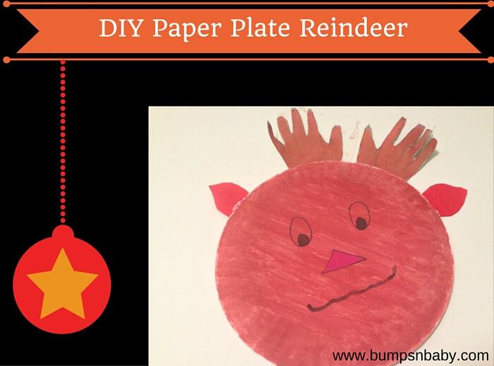 paper plate reindeer diy & Paper Plate Reindeer DIY for this Christmas