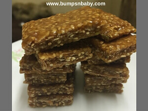 oats sesame bar recipe