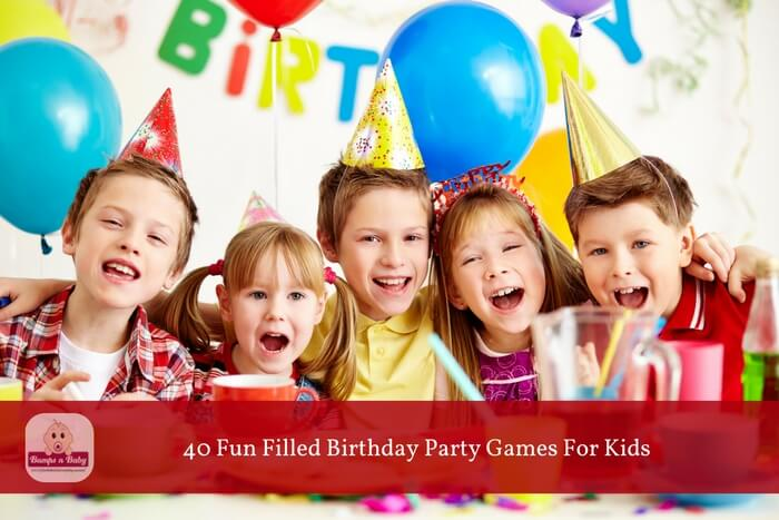 40 birthday party games for kids