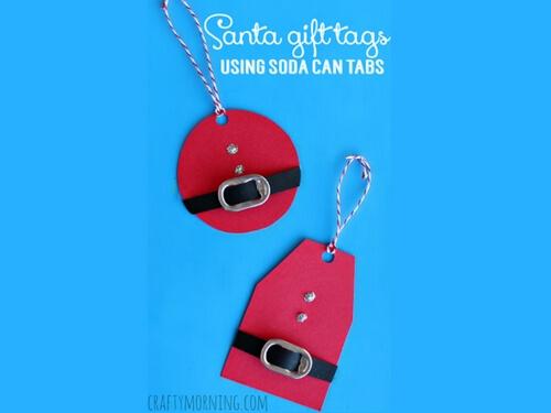 Christmas crafts for kids CHristmas gift tag