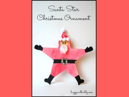 Christmas crafts for kids DIY star santa