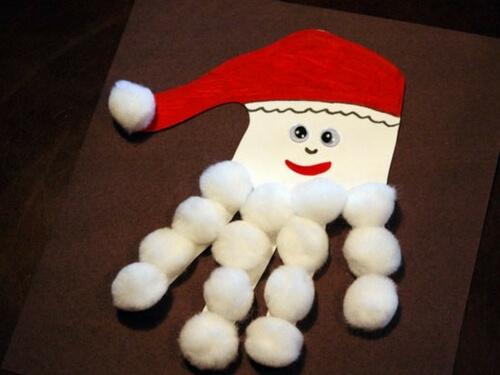 Christmas crafts for kids handprint santa