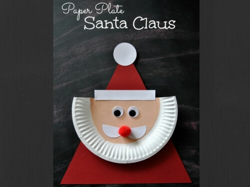 christmas crafts for kids paper plate santa