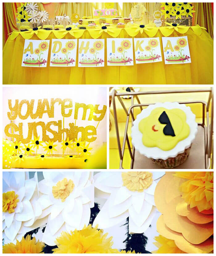 little miss sunshine birthday party themes for girls