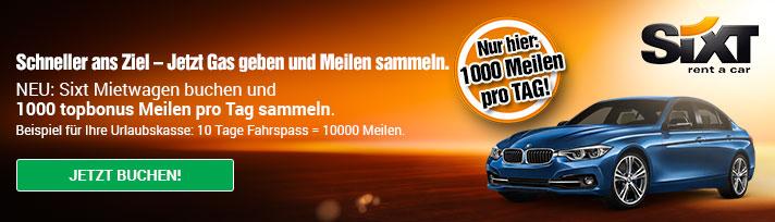 air berlin topbpnus sixt promo 1000 meilen