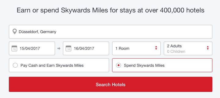 emirates skywards rocketmiles meilen miles hotel stay buchung booking