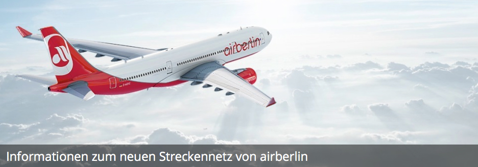 air berlin new arberlin streckennetz map karte airline flieger fluggesellschaft hub spoke