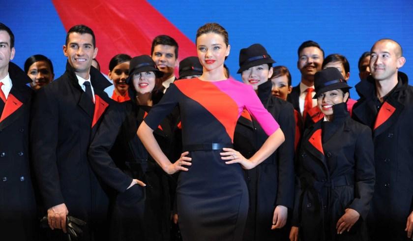 airline uniform qantas miranda kerr