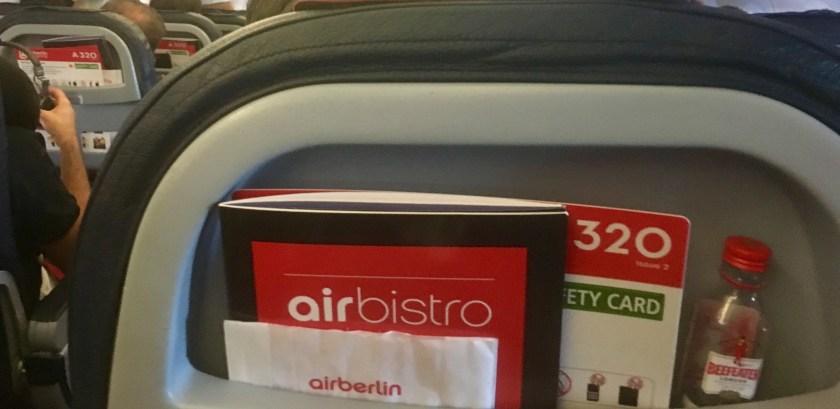 tlv txl airberlin air berlin airbus a320 320 beefeater gin economy xl-sitz xl seat ab8383