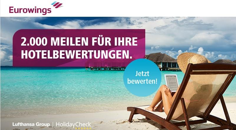 4.000 Meilen für Eurowings Boomerang Club – mit HolidayCheck
