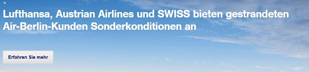 lufthansa air berlin airberlin swiss austrian airlines lh ab